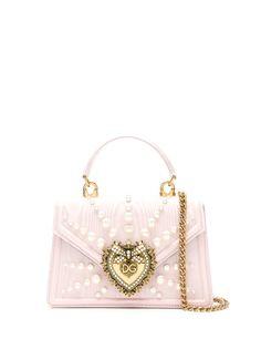 Dolce & Gabbana мини-сумка Devotion с жемчугом