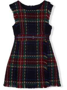 Lapin House твидовое платье с поясом