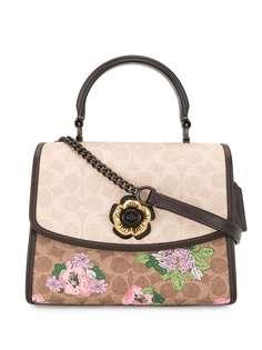 Coach сумка через плечо Parker Signature с цветочным принтом