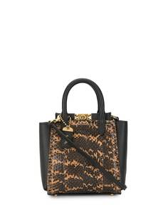 Coach сумка-тоут Troupe 16 с тиснением под кожу змеи