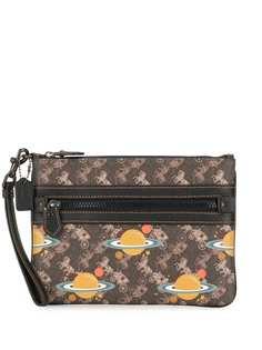 Coach сумка через плечо с монограммой
