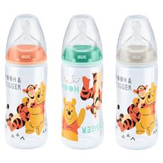 Бутылочка Nuk Disney Winnie The Pooh соска с отверствием М, полипропилен, с 0 мес, 300 мл, 1 шт