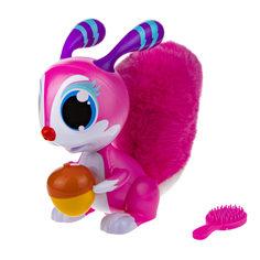 Интерактивная игрушка 1Toy Robo Pets Озорная белка, розовая, со звуком