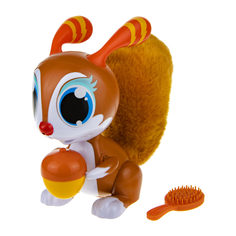 Интерактивная игрушка 1Toy Robo Pets Озорная белка, рыжая, со звуком