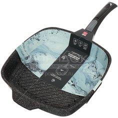 Сковорода-гриль с антипригарным покрытием Нева Металл Посуда 254028G без крышки, 28 см