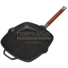 Сковорода-гриль чугунная Биол 10241 без крышки со съёмной ручкой, 24 см