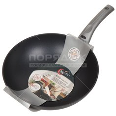 Сковорода-вок с антипригарным покрытием TVS Mito AY793283310001 без крышки, 28 см