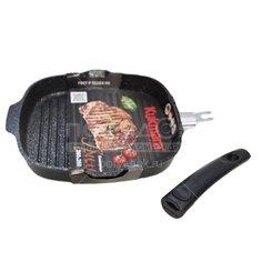 Сковорода-гриль с антипригарным покрытием Kukmara Темный мрамор сгкмт281а без крышки, 28 см