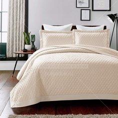 Текстиль для спальни Sofi De MarkO Арагорн молоко, евро, покрывало и 2 наволочки 50х70 см