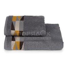 Полотенце банное, 50х90 см, Cleanelly Triangoli, 460 г/кв.м, серое ПЦ-2601-4477-1 17-3914