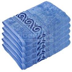 Полотенце банное, 100х150 см, Cleanelly Акуа дель Нило, 420 г/кв.м, серо-синее ПЦ-1201-4345 (18-4220)