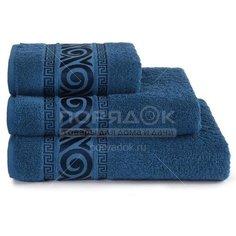 Полотенце банное, 100х150 см, Cleanelly Акуа дель Нило, 420 г/кв.м, синее ПЦ-1201-4345 (18-4231)