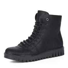 Ботинки Черные ботинки из экокожи на утолщенной подошве Rieker