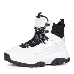Ботинки Белые ботинки из кожи на шерсти Grunberg