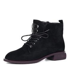 Ботинки Черные ботинки из велюра на шнуровке Respect