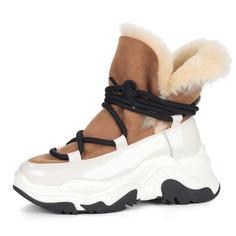 Ботинки Бело-бежевые спортивные ботинки из комбинированных материалов Respect