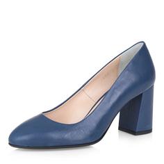 Туфли Синие туфли-лодочки на устойчивом каблуке Respect