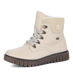 Ботинки Бежевые ботинки из экокожи Rieker