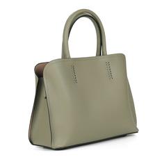 Сумки Зеленая сумка из кожи с дополнительной ручкой Respect