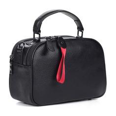 Сумки Черная сумка из кожи с дополнительной ручкой Respect