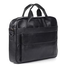 Портфели Черная сумка-портфель из кожи Respect