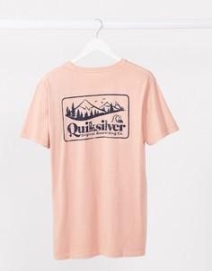 Розовая футболка Old Habit от Quiksilver-Розовый