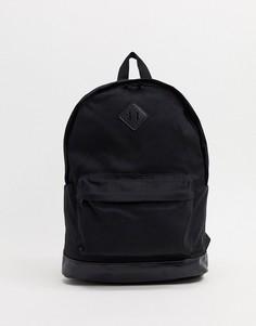 Черный рюкзак с основанием из искусственной кожи ASOS DESIGN