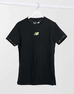Черная футболка с графическим логотипом New Balance Football-Черный