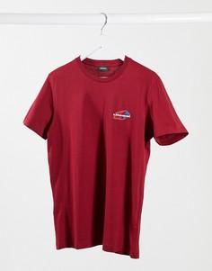 Красная футболка с логотипом-звездой Diesel T-Diegos-K36-Красный