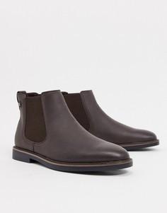 Темно-коричневые ботинки челси River Island-Коричневый