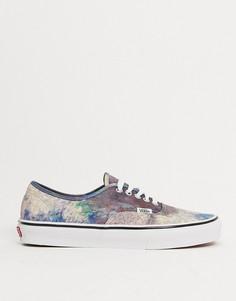 Разноцветные кроссовки Vans X MoMA Claude Monet Authentic-Мульти