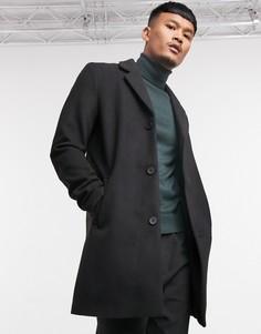 Черное пальто Jack & Jones Originals-Черный
