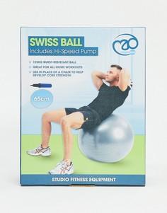 Серебристый мяч для фитнеса диаметром 65 см с насосом ExaFit-Бесцветный