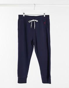 Темно-синие джоггеры с манжетами Polo Ralph Lauren-Темно-синий
