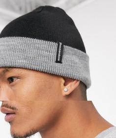Черная шапка-бини Bershka-Черный