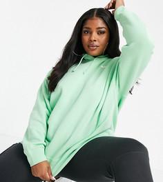 Зеленое oversized-худи с логотипом-галочкой Nike Plus-Фиолетовый