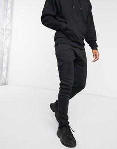 Черные джоггеры карго от комплекта Le Breve-Черный