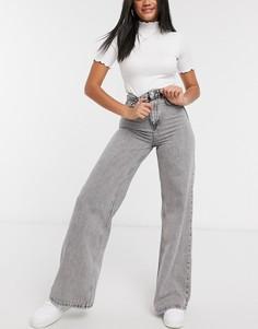 Серые джинсы с широкими штанинами в стиле 90-х Stradivarius-Синий