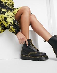 Черные ботинки с двойными швами Dr Martens 1460 Pascal Bex-Черный