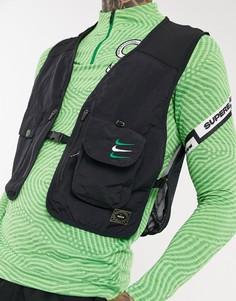 Черный жилет в стиле милитари Nike Football Nigeria