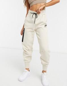 Кремовые флисовые джоггеры Nike Tech SUIT 5-Кремовый