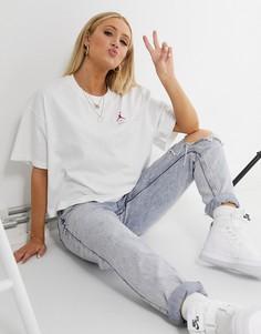 Белая футболка свободного кроя Nike Jordan-Розовый