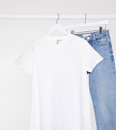 Белая футболка из органического хлопка с круглым вырезом ASOS DESIGN-Белый