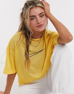 Желтая сетчатая футболкаNike-Желтый