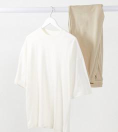 Oversized-футболка цвета кости ASOS DESIGN Maternity-Бежевый