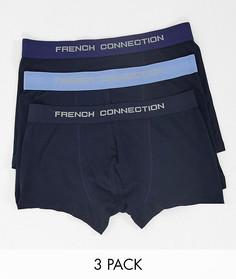 Набор из трех синих боксеров-брифов FrenchConnection-Синий