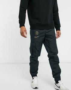 Черные джоггеры карго с логотипом клуба Paris Saint-Germain от Nike Football-Черный