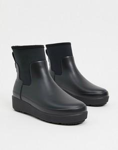 Черные резиновые сапоги-криперы Hunter Refined-Черный