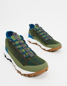 Зеленые низкие ботинки Columbia Flow Borough-Зеленый