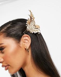 Золотистые заколки для волос в виде крыльев феи ASOS DESIGN Halloween-Мульти